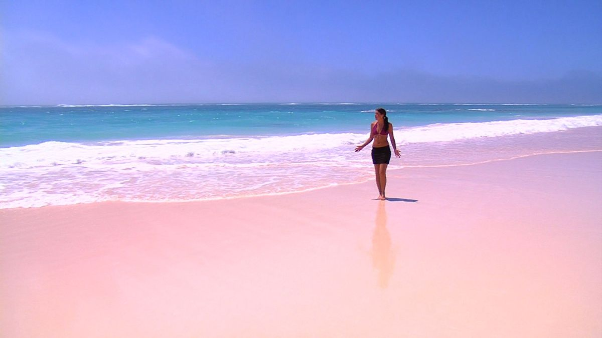 Pink sand for Bahamas pink sand beaches